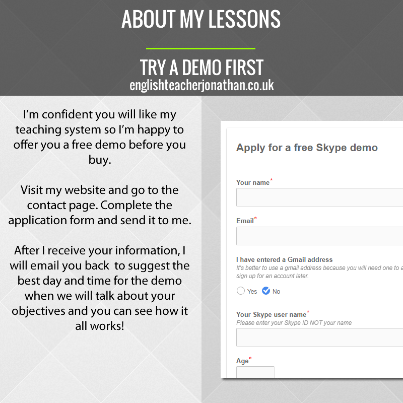 Try a demo first