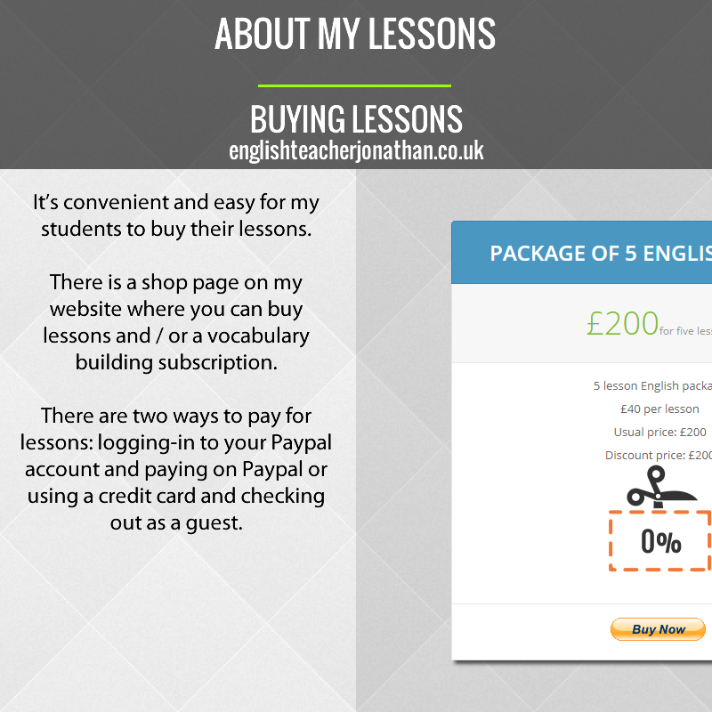 Buying lessons